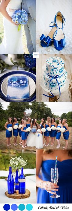 Cobalt Blue & White Wedding Palette