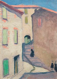 View Rue montante à Collioure By Albert Marquet; oil on canvas laid down on board; Access more artwork lots and estimated & realized auction prices on MutualArt. Henri Matisse, Mary Cassatt, Photography Illustration, Post Impressionism, Painting Lessons, Global Art, French Artists, Art Auction, Art Market