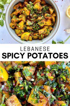 Vegetable Dishes, Vegetable Recipes, Vegetarian Recipes, Cooking Recipes, Healthy Recipes, Healthy Lebanese Recipes, Spicy Recipes, Potato Recipes, Keto Recipes