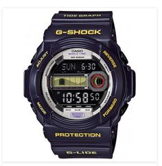 G Shock Casio G-Lide GLX150 Violet Sport Digital Time Rare Fashion Wrist Watch -  $115.99   Shock Resistant - 200M Water Resistance - World Time Function with Multiple Cities  http://topstreetwearclothingbrands.com/mens-urban-fashion-watches/  #MensUrbanFashionWatches #Watches #Gshock #MensUrbanFashion #UrbanFashion