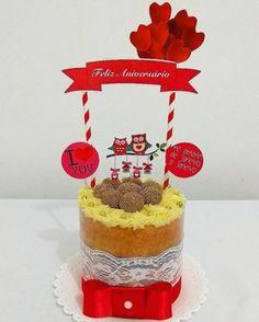 bolo simples aniversário
