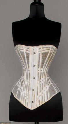Cotton Net Summer Corset, 1890s