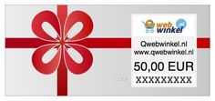 Cadeaubon 50 euro  Kies de Qwebwinkel.nl cadeaubon met een prachtig thema.  EUR 50.00  Meer informatie