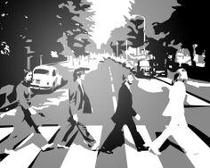 The Beatles Abbey Road aaronu painting