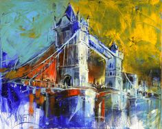Voka Spontanrealismus        Tower Bridge, 120x150 cm/47,2 x 59,1 inch, Acrylic on Canvas