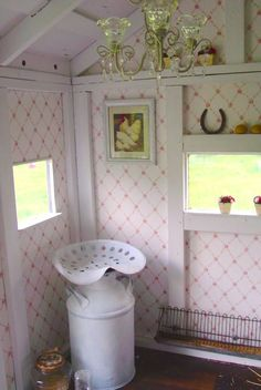 shabby chic rustic country tiny house home chicken coop picket fence