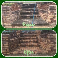 Brick cleaning by Waterworx Pressure Cleaning Brisbane and Gold Coast.