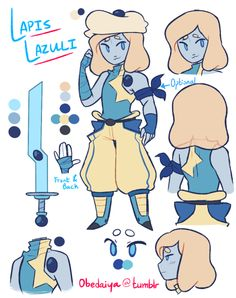 Lapis is one of my favorite gems, but this gemsona is pretty cool too!