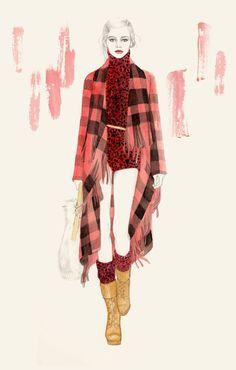 New York Fashion Week Fall 2012 enlisted Teri Chung Michael Kors Illustration - Fashion Illustrations - Harper's BAZAAR