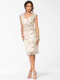 Ivory Sequin and Lace Dress