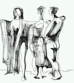 "virtual drawing on line  with Harmony  -  base   on the painting  ""the three graces"" P Picasso --  15 feb  2014 - Re Chab"