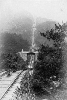 Hong Kong Peak tram, 1897 * 1500 free paper dolls and toys Chinese paper dolls at The China Adventures of Arielle Gabriel, also free Chinese toys at Arielle Gabriels The Internaitonal Paper Doll Society *