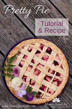 How to make fancy decorated pies. Perfect pie crust recipe and apple huckleberry pie filling recipe included. Huckleberry Pie Filling Recipes, Dessert Sauces, Dessert Recipes, Easy Desserts, Delicious Desserts, Perfect Pie Crust, Baking Recipes, Baking Tips, Best Pie