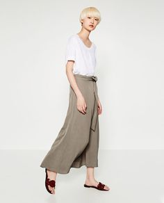 ZARA - WOMAN - OVERSIZED LINEN T-SHIRT