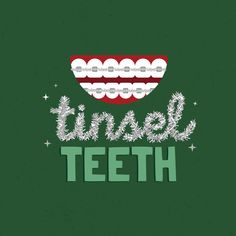 ARE YOU FEELING FESTIVE with your tinsel teeth? December is one of the best times of the year to wear your braces with pride! What tie colors are you wearing with your tinsel teeth? Dentist Jokes, Dental Humor, Dental Hygiene, Dental Health, Braces Humor, Dental Quotes, Orthodontic Humor, Orthodontics Marketing, Dentist Reviews