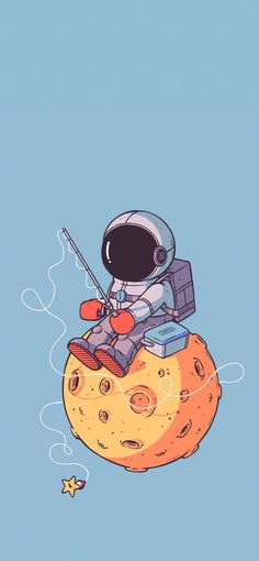 Iphone Wallpaper Illustration, Space Illustration, Best Friends Cartoon, Friend Cartoon, Cool Wallpapers For Phones, Cute Wallpapers, Astronaut Cartoon, Astronaut Wallpaper, Space Drawings
