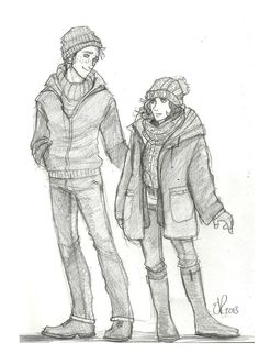 Ron and Hermione: Winter clothing by Catching-Smoke.deviantart.com on @DeviantArt
