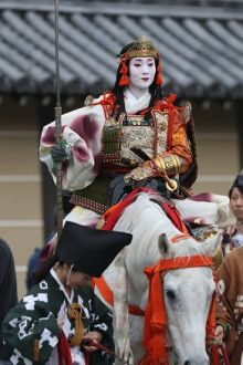 Ichisayo as Tomoe Gozen during Jidai Matsuri.   -festival is held October 22nd in Kyoto, and is a procession of the history of Kyoto.  I want to go!