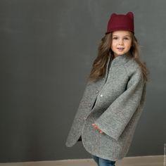 Купить Двухстороннее пальто для девочки - серый, пальто женское, пальто…