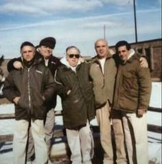 From left to right: Harry Aleman, Mike Sarno,  Bellavia, Rocky Infelise &…