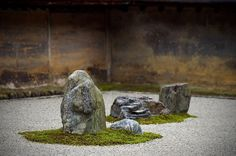 """via Alma Kuzma    """"At Ryoan-ji in Kyoto there is a famous rock garden; wherever in it a person stands, one of the fifteen rocks cannot be seen. The garden reminds that always something unknowable is present, just beyond what can be perceived or comprehended - and that something is as much part of the real as any other stone amid the raked gravel.""""  - Jane Hirshfield (from http://whiskeyriver.blogspot.com/)"""
