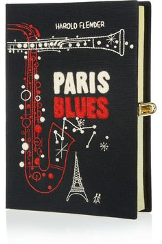 Olympia Le-Tan|Paris Blues embroidered clutch