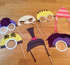 Minion party photo props