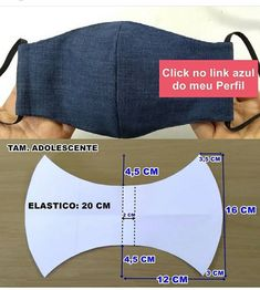Sewing Hacks, Sewing Tutorials, Sewing Crafts, Sewing Projects, Easy Face Masks, Diy Face Mask, Costura Fashion, Fashion Face Mask, Schneider