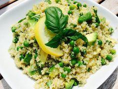 Our Quinoa And Avocado Salad is an easy side dish recipe. A homemade citrus dressing, fresh basil and creamy avocado combine to make this avocado quinoa a delicious addition any summer meal. Avocado, the good fat. Quinoa, the mother of all grains. Together they give you a punch of nutrition!  Enjoy a serving of quinoa and avocado salad on Meatless Monday with tofu or top with cooked chicken, shrimp or beef and make it your main meal.