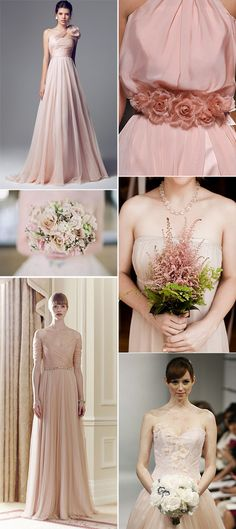 Novias en color rosa – tendencias bodas 2014