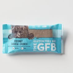 The Gluten Free Bar Coconut Cashew Crunch Simple, non-GMO ingredients: toasted cashews, organic brown rice syrup, complete protein blend (brown rice protein, pea protein), organic agave nectar, toasted coconut, organic crisped brown rice, organic dates, organic sunflower seeds, golden flaxseed, organic safflower oil, natural coconut flavor, sea salt. contains cashews, coconut.