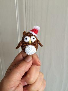 Christmas owl - crochet free pattern
