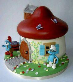 We love smurfs #cake #design #ideas