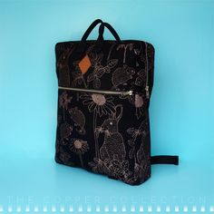 T H E C O P P E R C O L L E C T I O NThe pattern on this backpack is printed in the metallic shade of copper with a slight shimmer of nacre, on a black cotton base. Black Cotton, Louis Vuitton Monogram, Fashion Backpack, Illustrator, Metallic, Copper, Shades, Backpacks, Printed