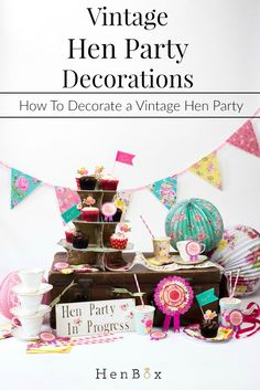 Learn how to style your vintage hen parties. Great planning and decorating tips for a vintage hen party theme. Hens Party Themes, Hen Party Decorations, Wedding Shower Decorations, Party Ideas, Bridal Shower Bingo, Unique Bridal Shower, Bachelorette Party Games, Vintage Party, Party Planning