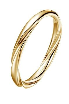 Fei Liu has created an elegantly twisted yellow gold wedding band within its Aurora collection