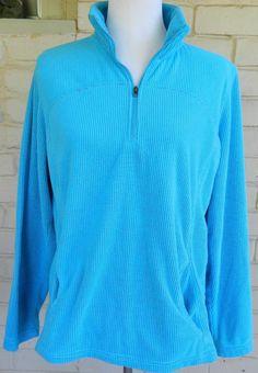Women's Tek Gear Half Zip Pullover Turquoise Size XL #TekGear #SweatshirtCrew #Casual
