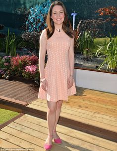 Making the most of the weather! Good Morning Britain's Laura Tobin teamed her pretty peach dress with pink espadrilles. Susanna Reid, Good Morning Britain, Classic Girl, New Readers, Just She, Chelsea Flower Show, Elie Saab, Amy, Dresses