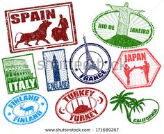 passport stamps from shutterstock