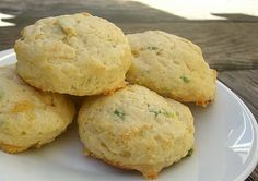 Green Onion, Swiss, and Parmesan Scones.  These would go great with a hearty soup or make mini scones for high tea.