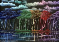 Color Forest - oil on sterched canvas