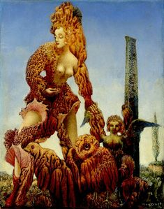 Max Ernst, Marlene, 1940-1941. Oil on canvas, 9 3/8 × 7 3/4 in. (23.8 × 19.7 cm). The Menil Collection, Houston. © Artists Rights Society (ARS), New York / ADAGP, Paris.