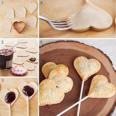 diy-cooking-lollipop heart-Valentine Valentine's Day is considered one of my favorite situations to share with my family members and certain close friends Valentine Messages, Valentine Cake, Homemade Valentines, Saint Valentine, Finger Foods, Cookie Dough, Love Food, Sweets, Cooking