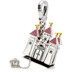 Juicy Couture Castle Charm found on Polyvore featuring polyvore, women's fashion, jewelry, pendants, silver, juicy couture, juicy couture jewellery, charm pendant, lobster clasp charms and juicy couture charm