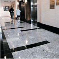 Marble Systems' natural stone used in the lobby of the MD Trade Center, Greenbelt, MD. #marble #stone #design