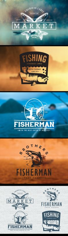 Fishing Vintage Badges on Behance