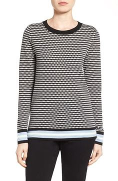 Halogen® Novelty Pattern Crewneck Sweater (Regular & Petite) available at #Nordstrom