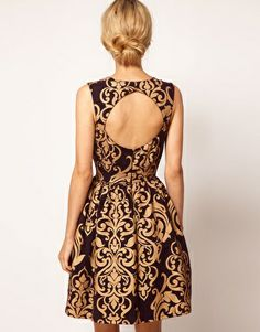 Lengthen, add sleeves and close back - love the print and the color