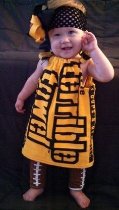 PITTSBURGH STEELERS~Terrible Towel dress by BoochieOnline on Etsy, $45.00 by anita