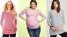 Fashion tips for rocking stripes on a baby bump.